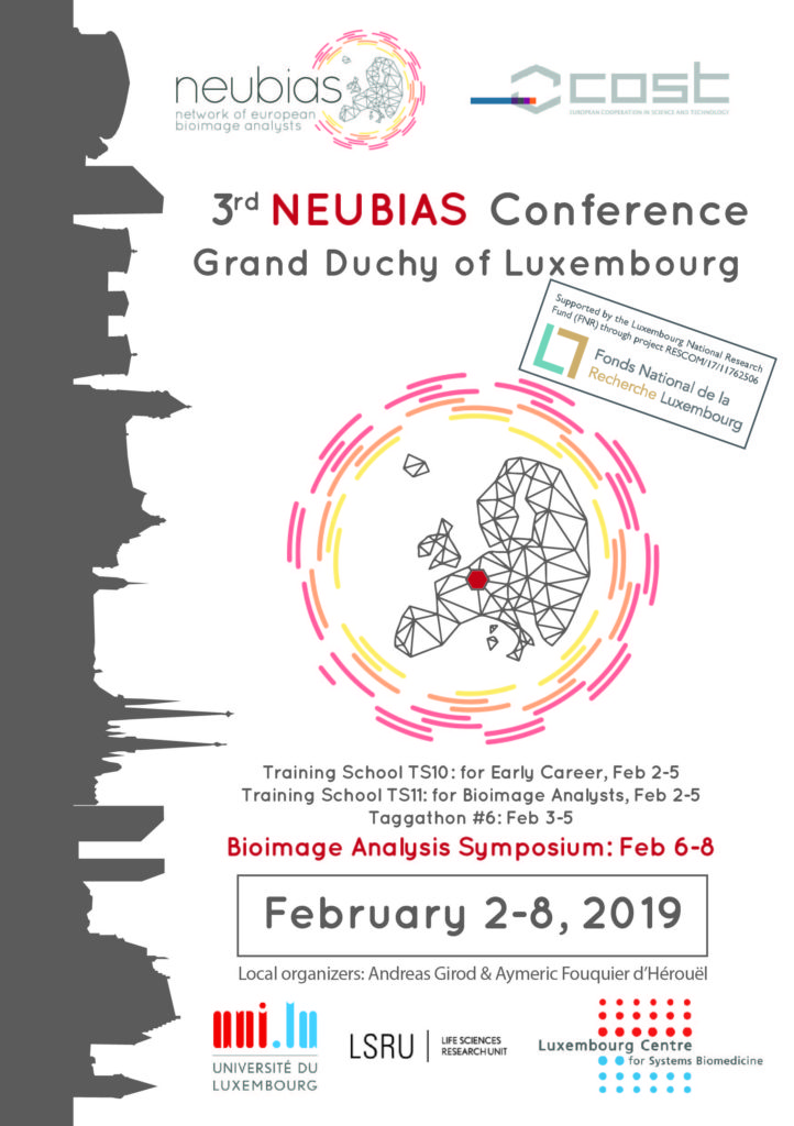 Luxembourg, 2019 - NEUBIAS: Network of BioImage Analysts