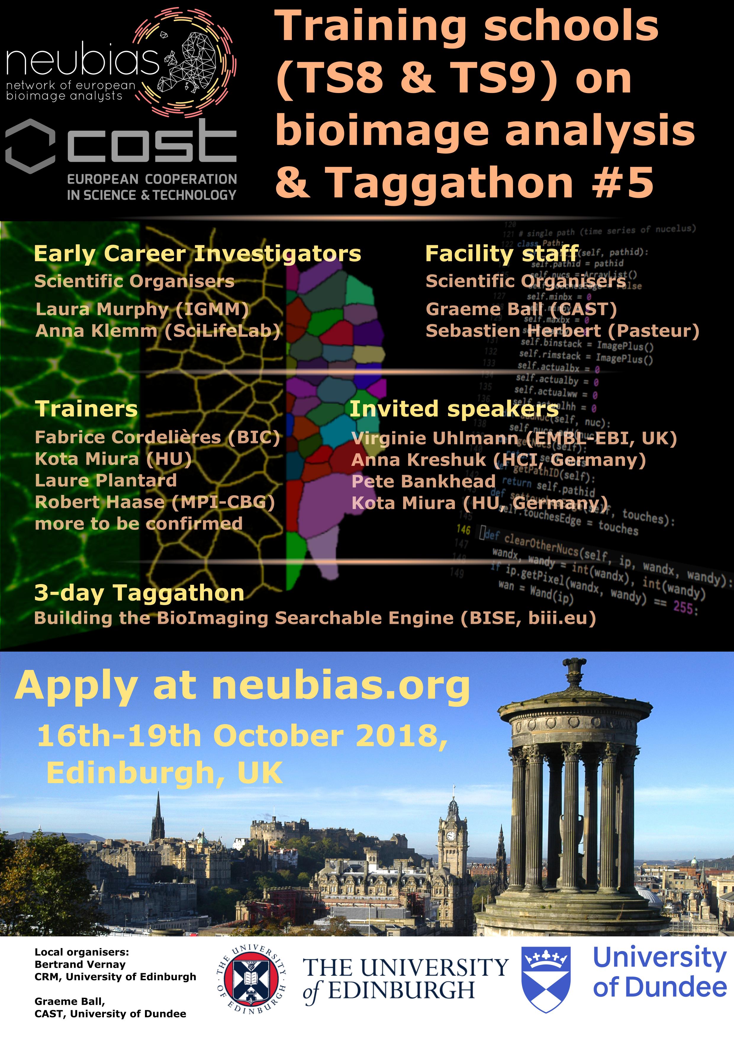 TS8 Edinburgh 2018 - NEUBIAS: Network of BioImage Analysts